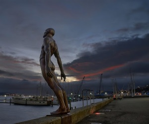 Solace in the Wind by Max Patte, at dawn in Wellington, New Zealand